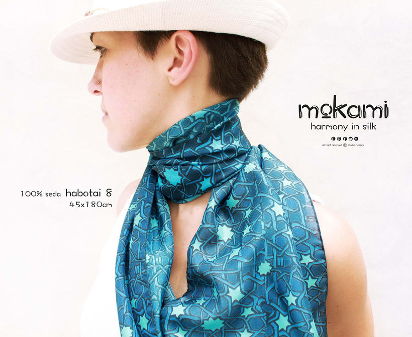Silk scarves & shawl designs by mokami on Etsy 7