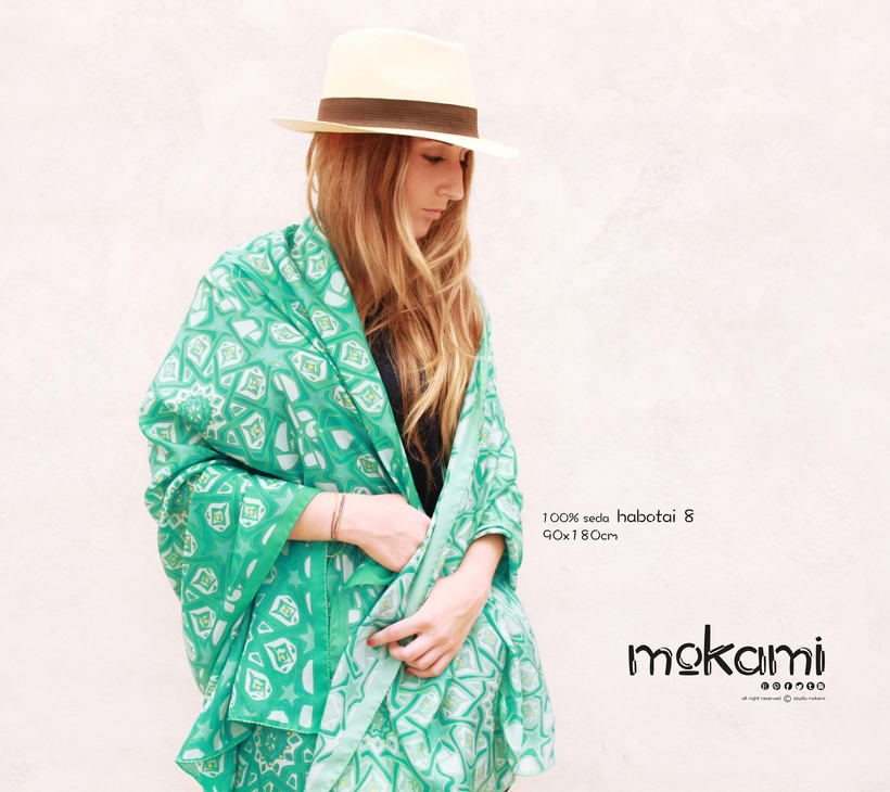 Silk scarves & shawl designs by mokami on Etsy 9