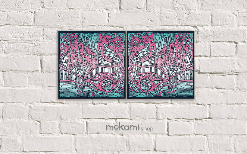 Bohemian canvases home decor designed by mokami 1