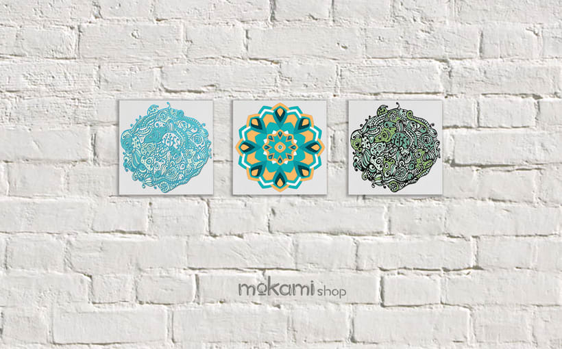 Bohemian canvases home decor designed by mokami 3