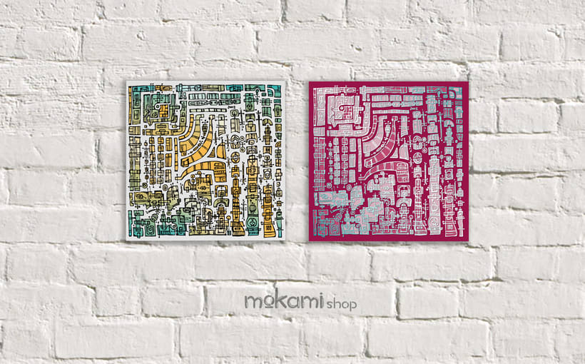 Bohemian canvases home decor designed by mokami 4