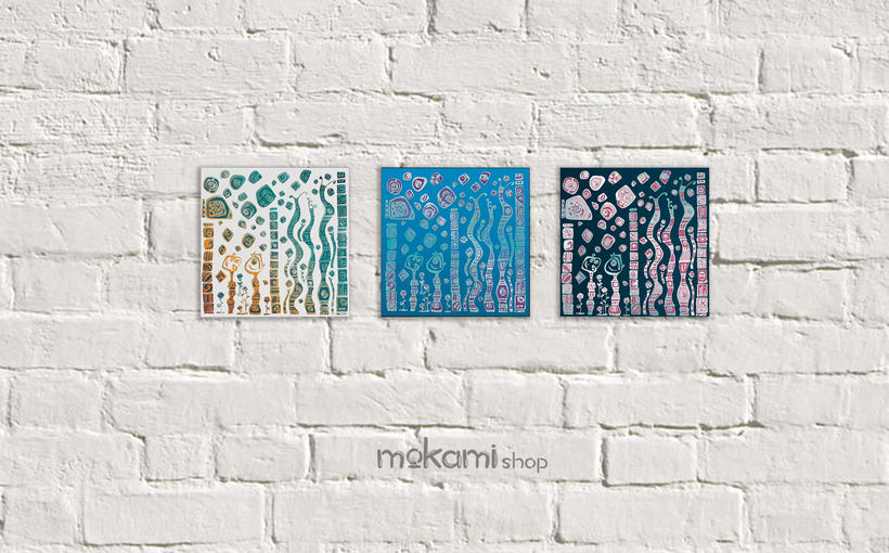 Bohemian canvases home decor designed by mokami 5