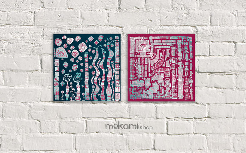 Bohemian canvases home decor designed by mokami 6