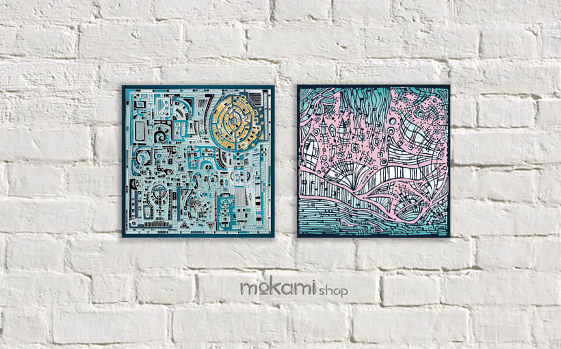 Bohemian canvases home decor designed by mokami 7