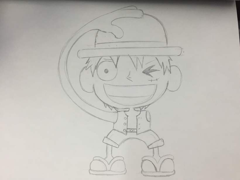 Monkey D. Luffy from One Piece 0
