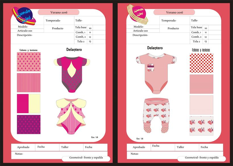diseños para empresa de indumentaria de niños 4