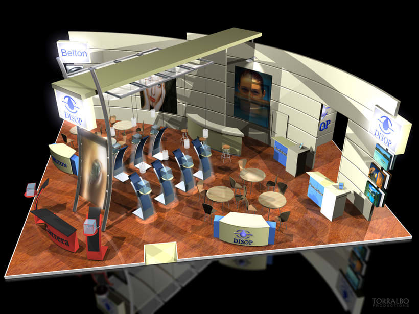 3D Stands for advertising fairs -1