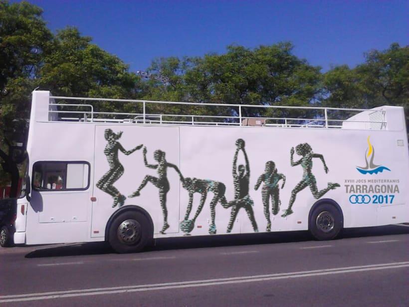 Arte Finalista. Creatividad realizada para los Juegos de Tarragona 2017. -1
