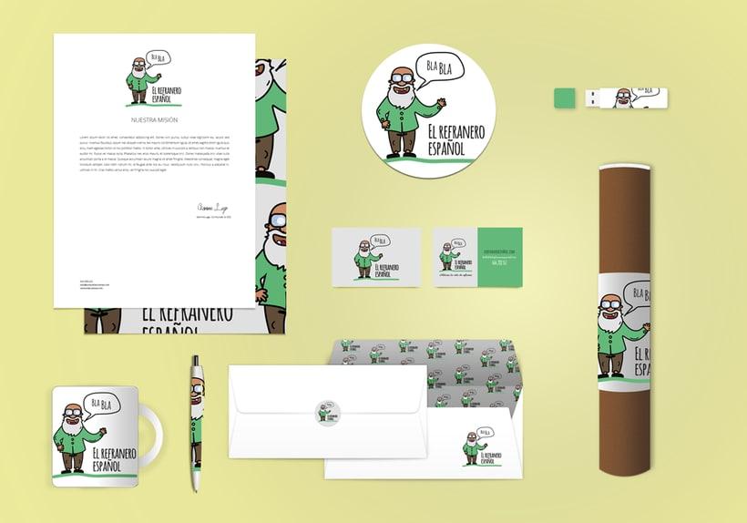 """Diseño de Branding """"El refranero Español"""" 1"""