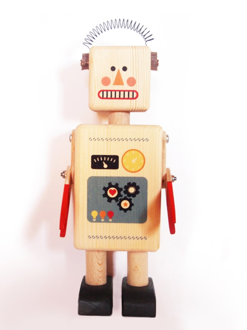 Wooden Robot 0