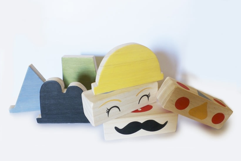 Wooden Faces Blocks -1