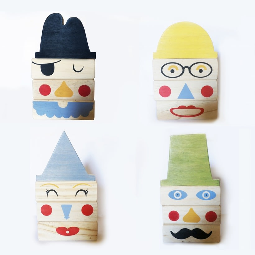 Wooden Faces Blocks 0