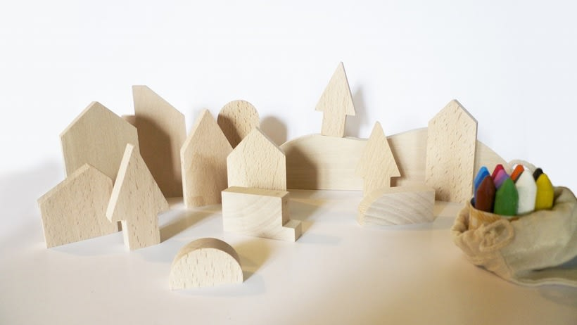 Wooden City Blocks -1