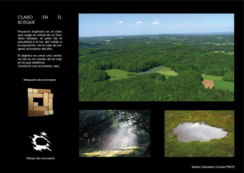 Un claro en el bosque   (2ºcurso Interiorismo gráfico) 1