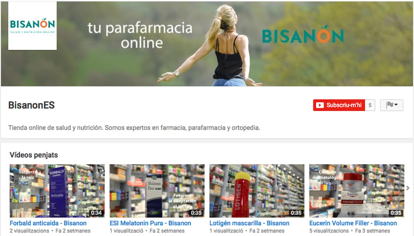 Videos promocionals per a BISANON 0