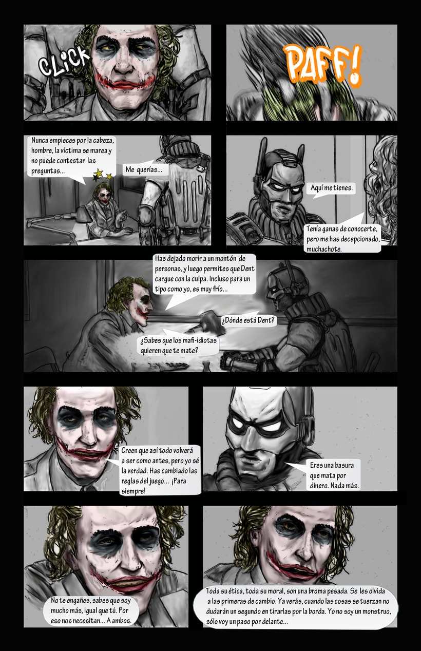 Dibujante para cómic de Batman. Sólo calcar fotografías 1