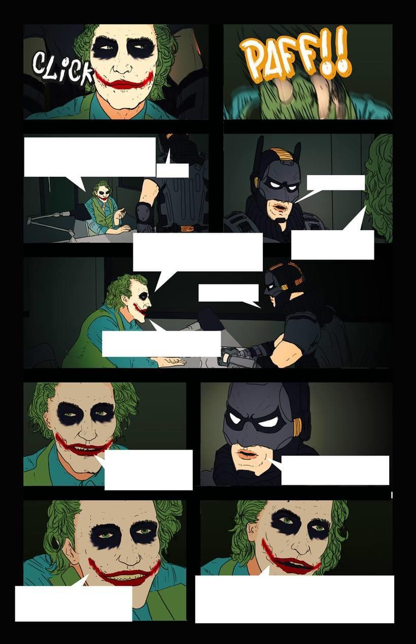 Dibujante para cómic de Batman. Sólo calcar fotografías 2