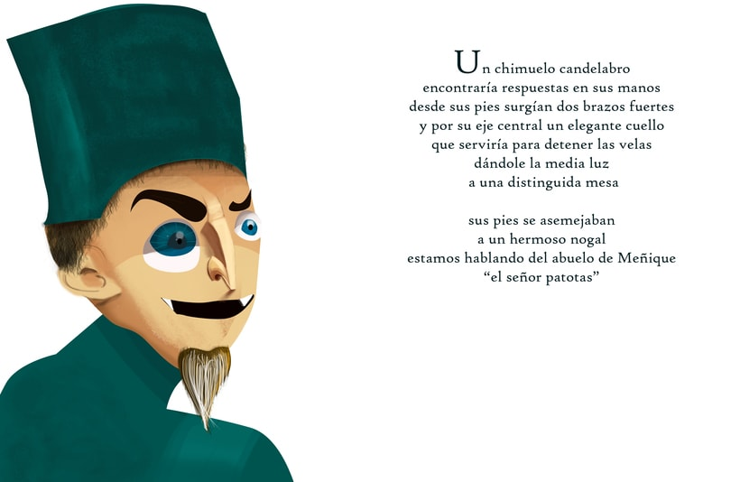 """Ilustraciones para cuento """"Meñique"""" 4"""