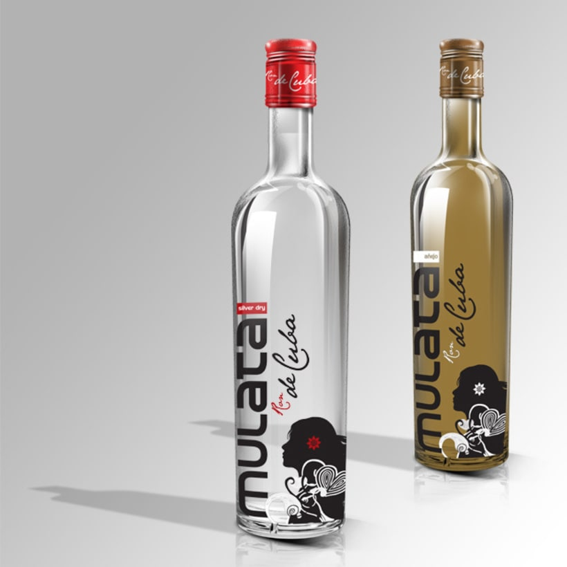 Ron Mulata bottle design 0