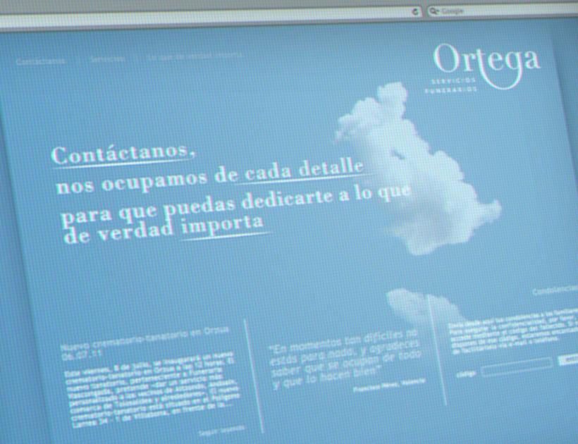 Ortega Servicios Funerarios website 0