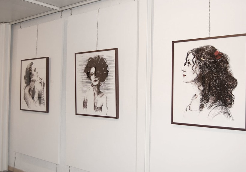 Exposición en el centro cultural Gabriel Celaya, 2013. (ilustración. escultura. intervención) 4
