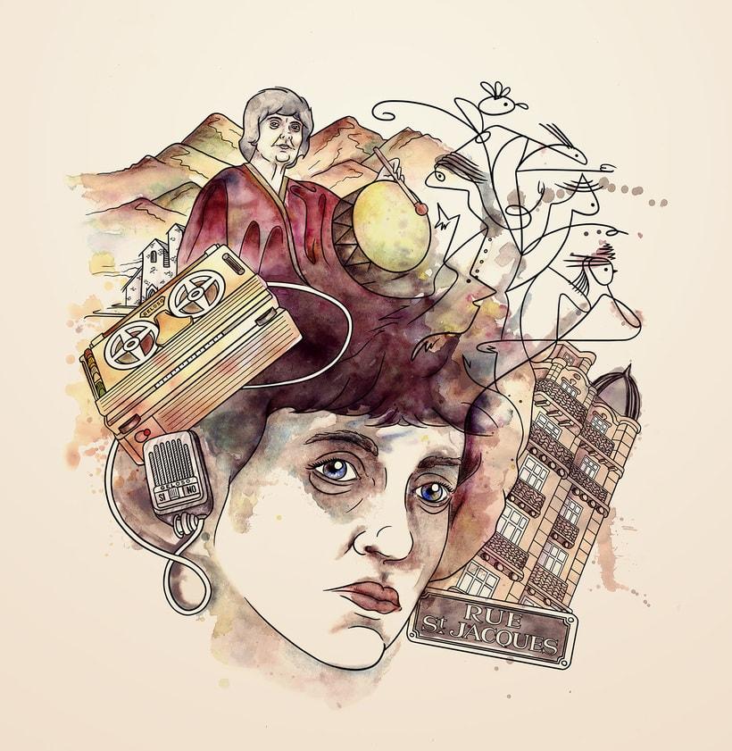 Leda - Ilustración para Obra de Teatro 1