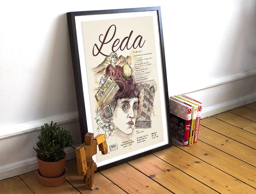 Leda - Ilustración para Obra de Teatro 3