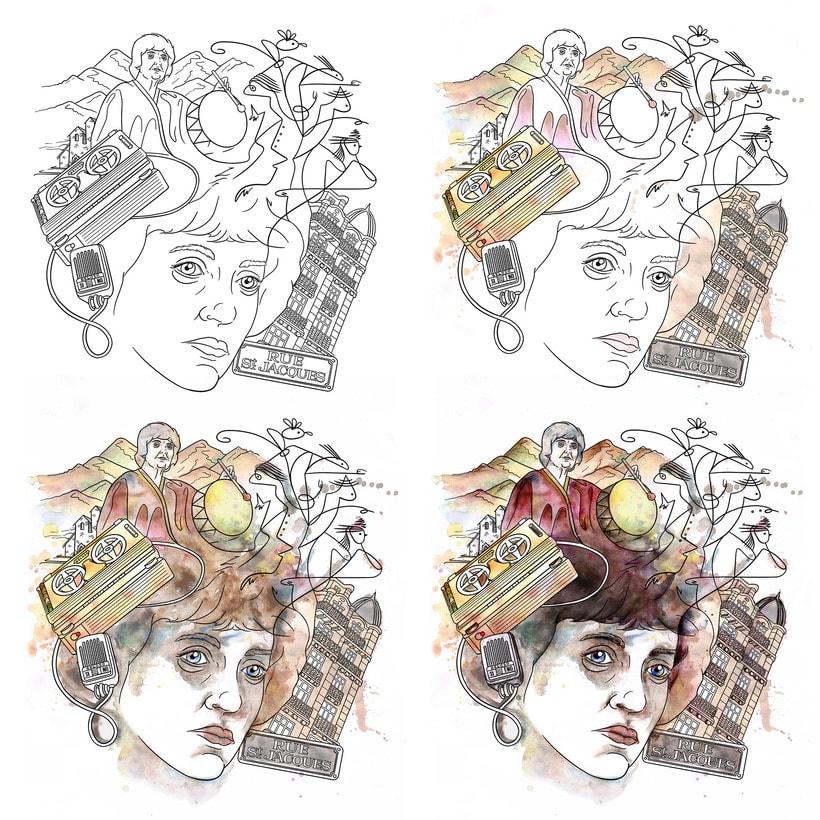 Leda - Ilustración para Obra de Teatro 4