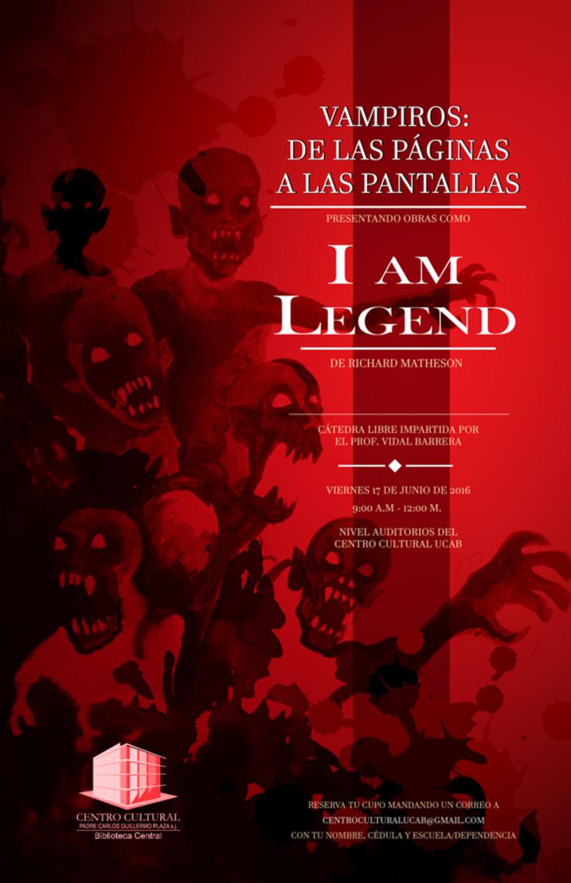 """Afiche promocional """"Vampiros: de las páginas a las pantallas"""" 2"""