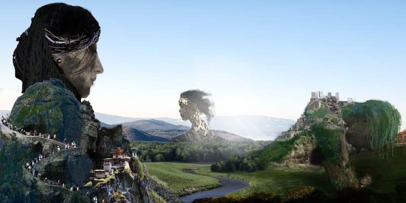 Mi Proyecto del curso: Matte Painting: creando mundos fotorrealistas -1