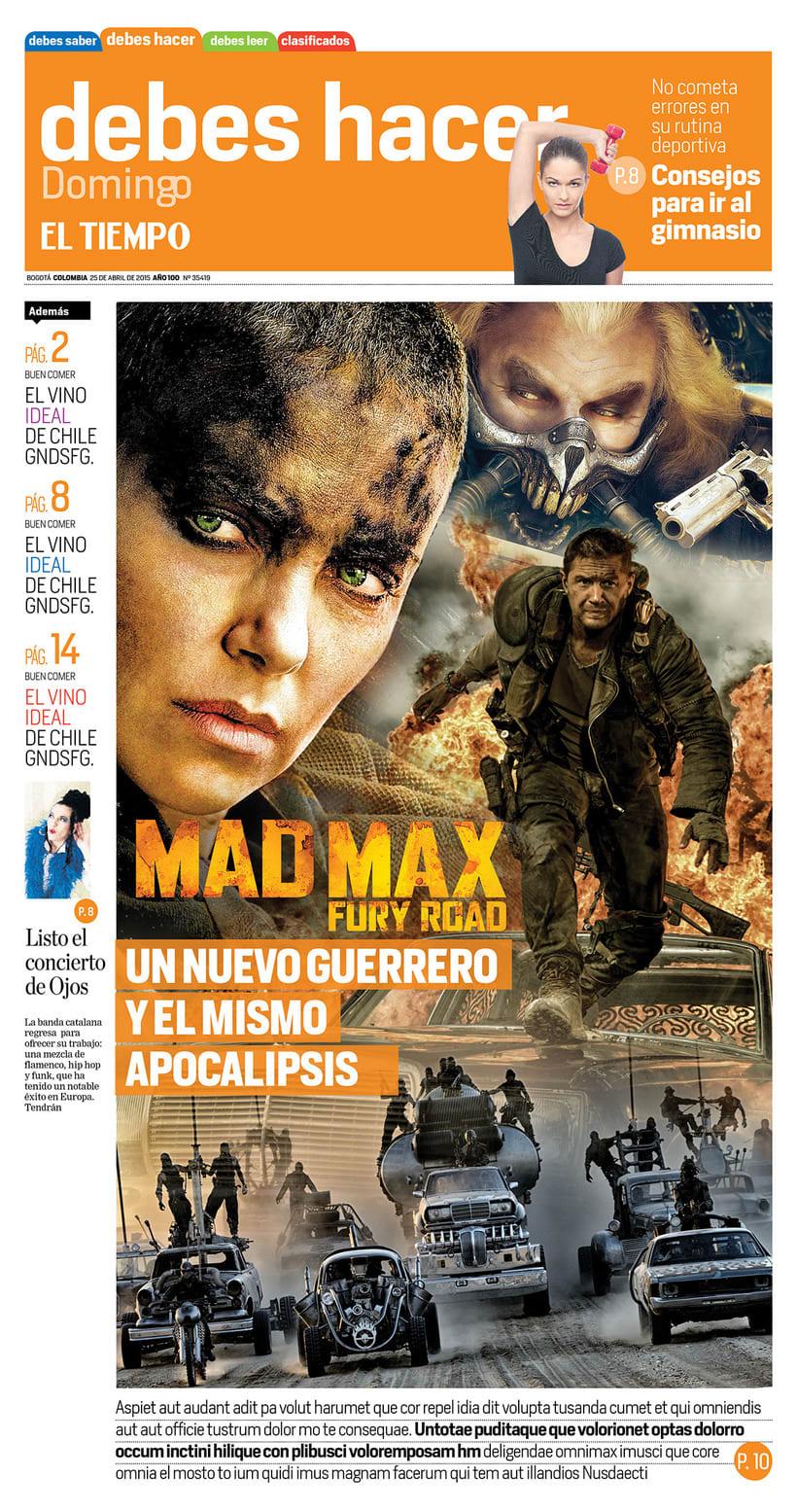 Mad Max, para periódico EL TIEMPO (Colombia) -1