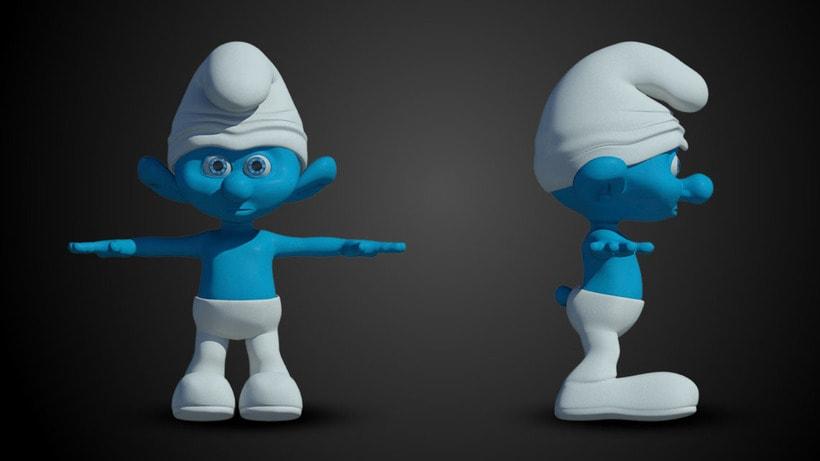 3D Smurf -1