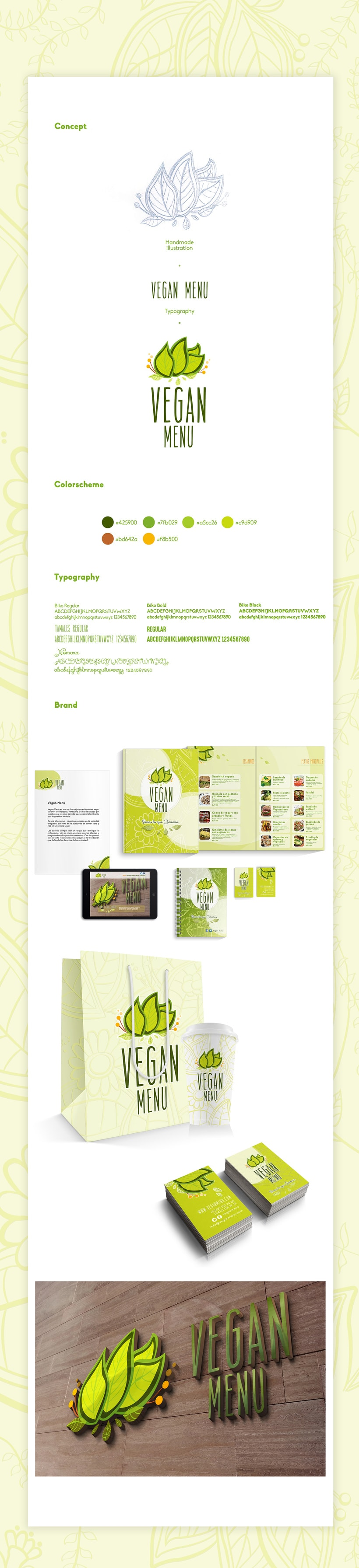 Branding Vegan menu -1
