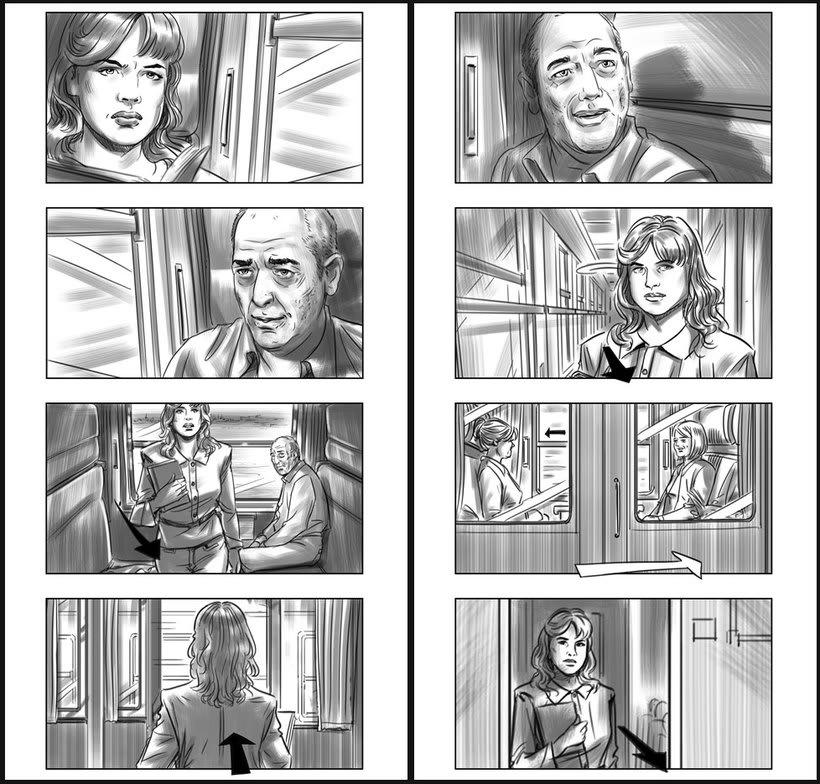 Julieta - Pedro Almodóvar. Storyboards 1