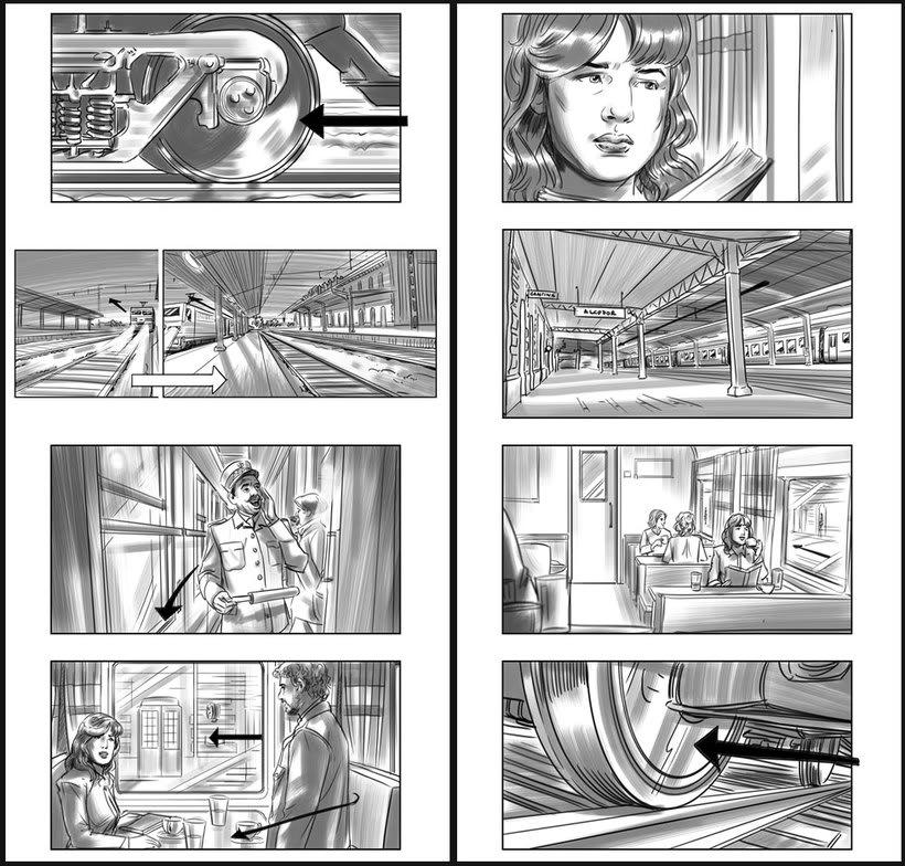Julieta - Pedro Almodóvar. Storyboards 3