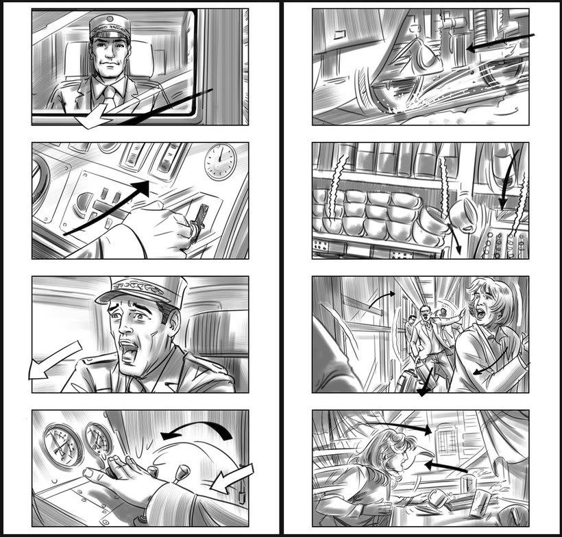 Julieta - Pedro Almodóvar. Storyboards 4
