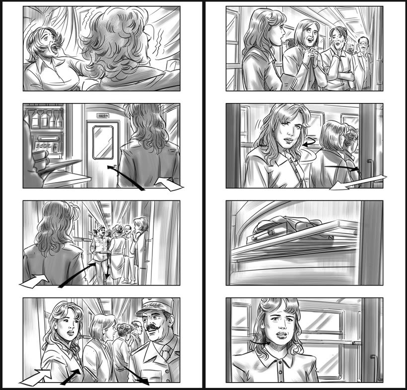 Julieta - Pedro Almodóvar. Storyboards 5