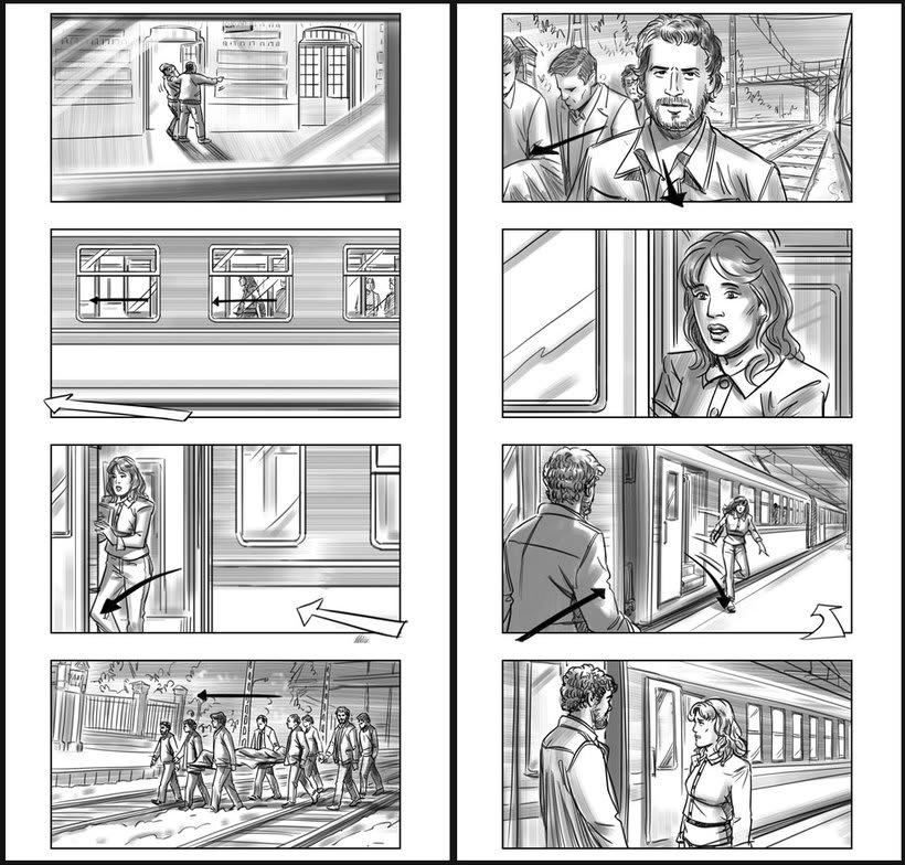 Julieta - Pedro Almodóvar. Storyboards 6