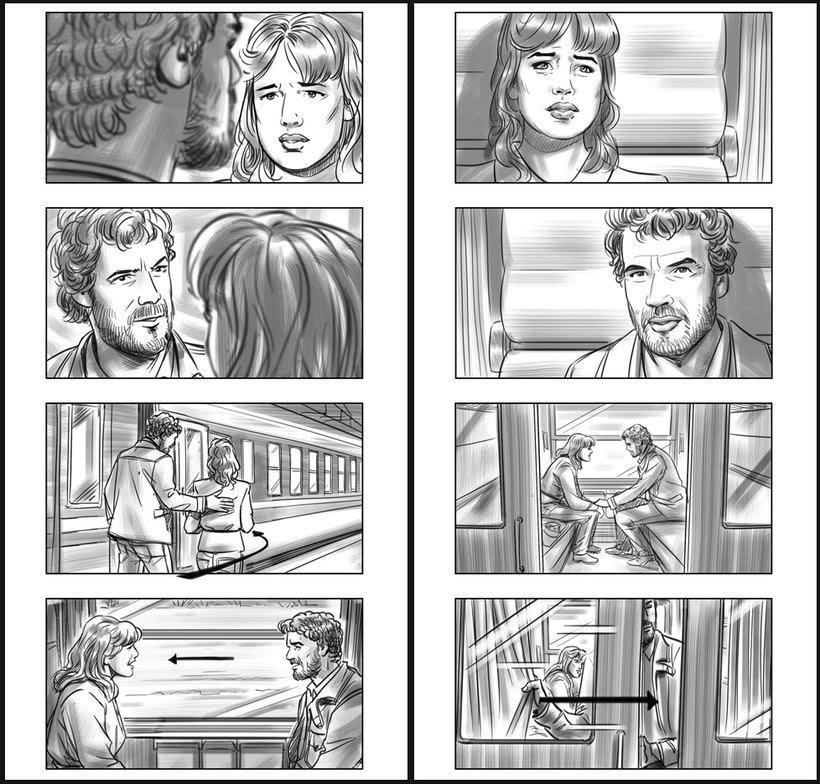 Julieta - Pedro Almodóvar. Storyboards 7