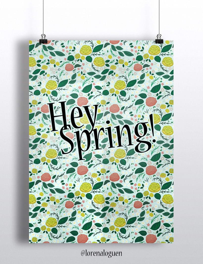 Spring Roses Pattern 1