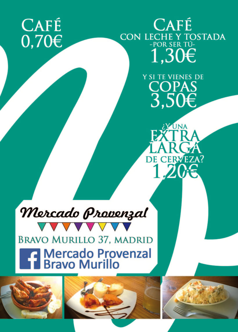 Diseño de Flyer para Mercado Provenzal de Bravo Murillo 1