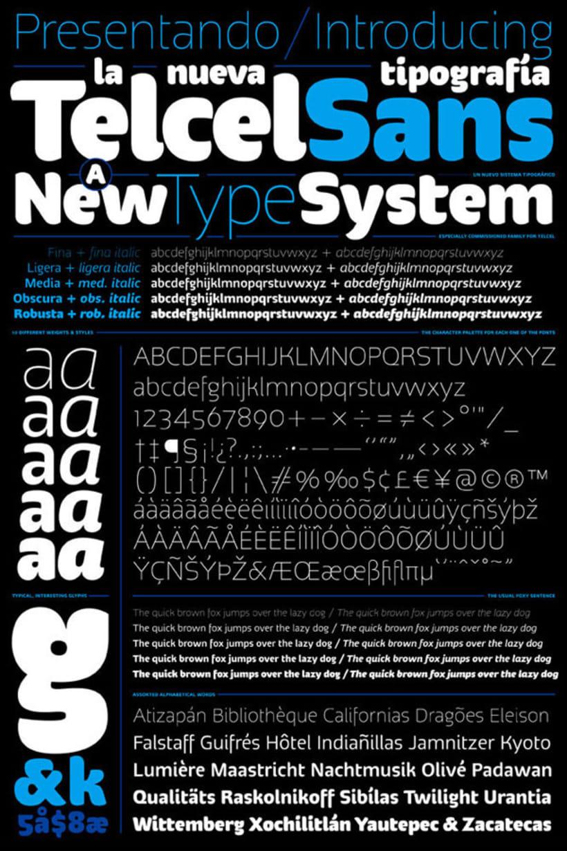 Telcel Sans | Tipografía corporativa -1