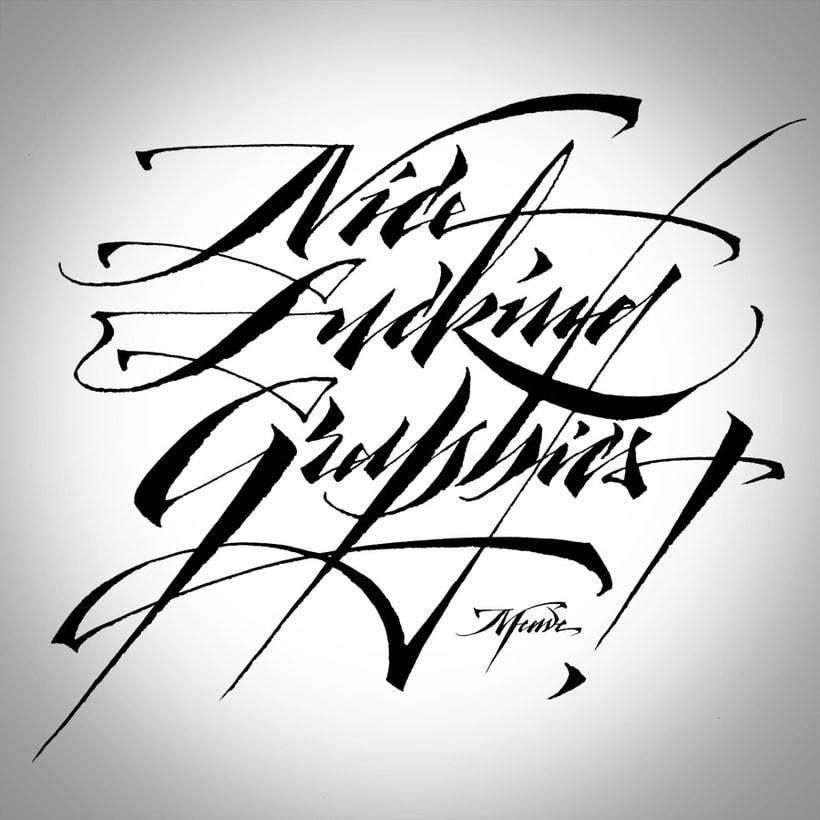 NFGraphics | Caligrafía para T-shirts 1
