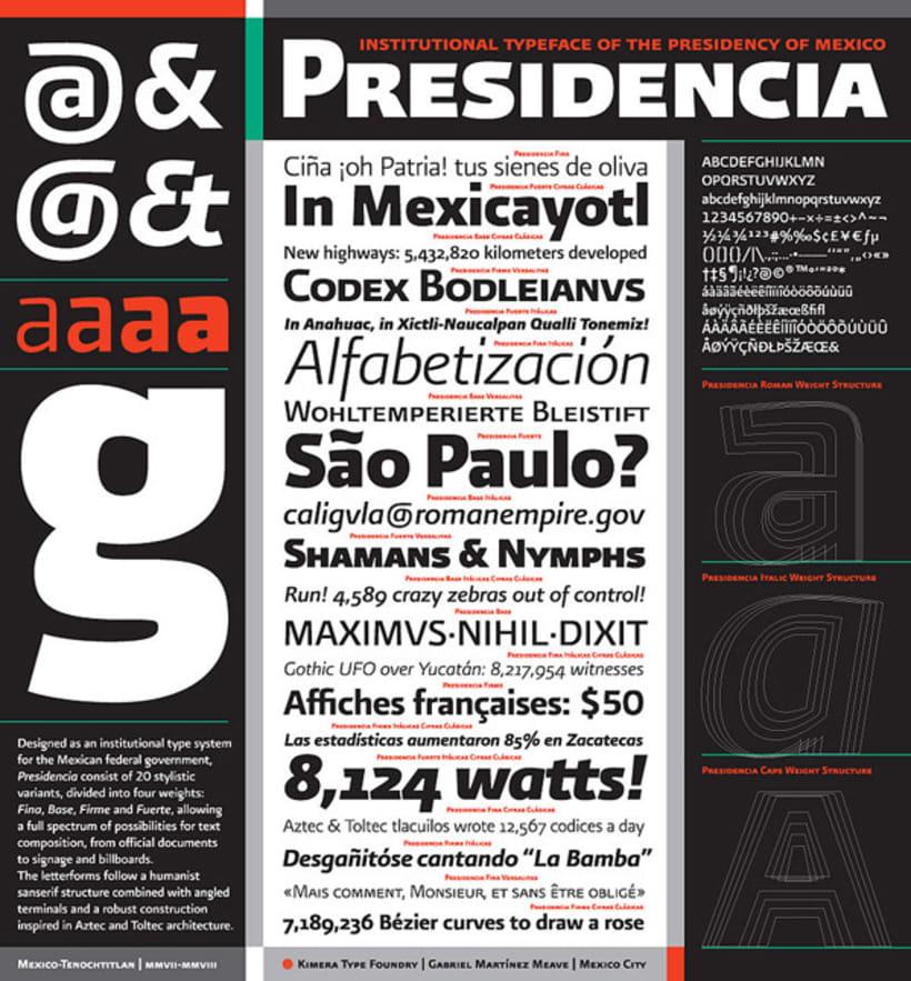 Presidencia Sans | Familia tipográfica institucional para el gobierno federal de México -1