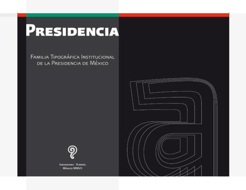 Presidencia Sans | Familia tipográfica institucional para el gobierno federal de México 0