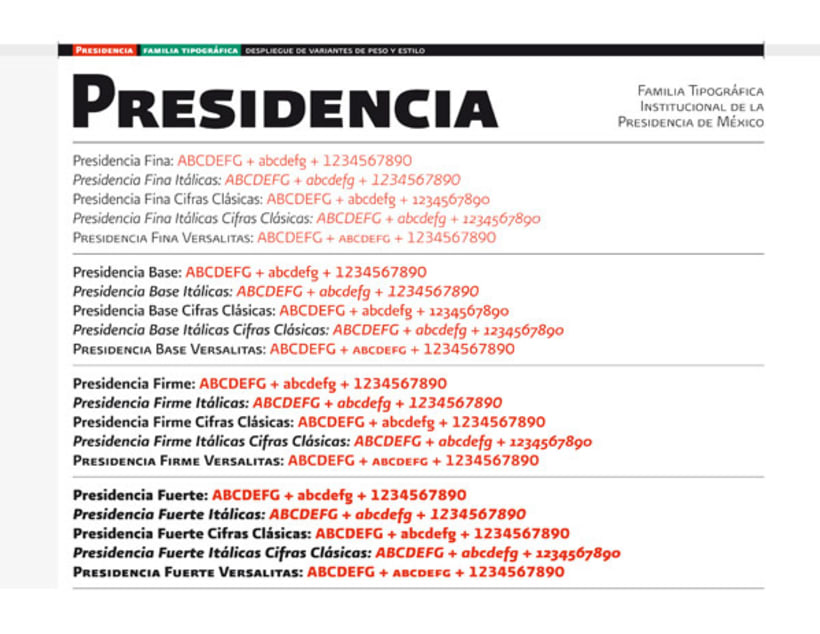 Presidencia Sans | Familia tipográfica institucional para el gobierno federal de México 1