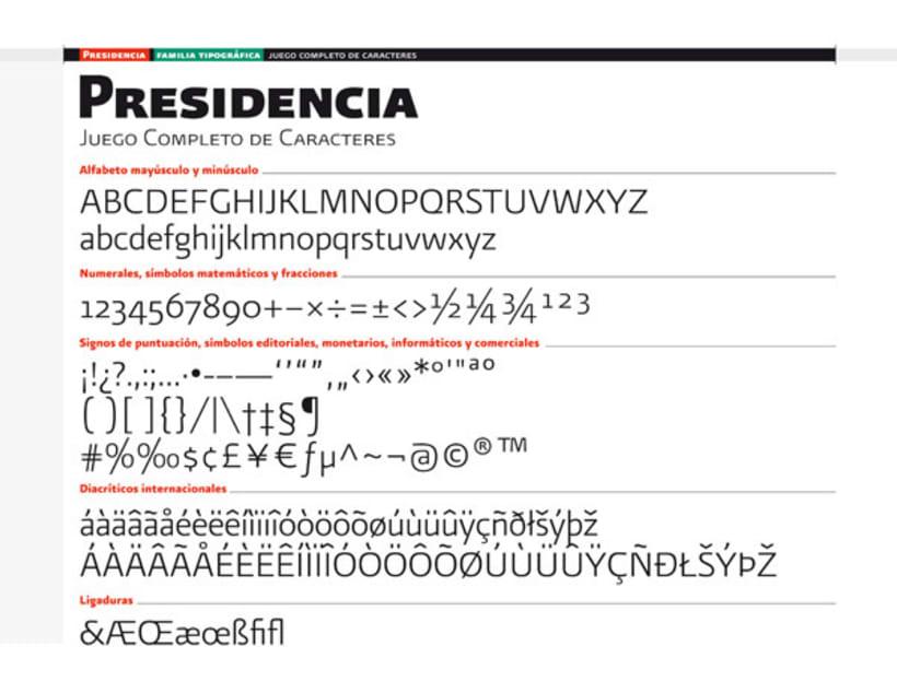 Presidencia Sans | Familia tipográfica institucional para el gobierno federal de México 2