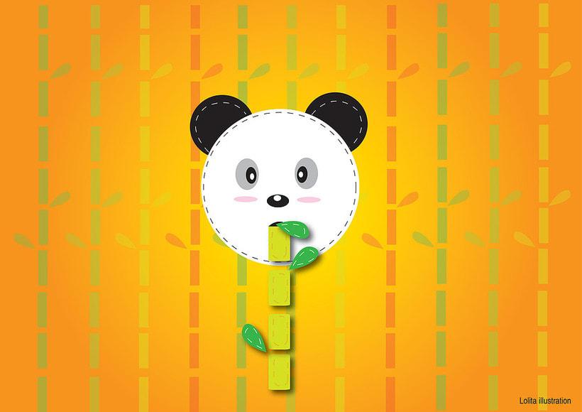 Eating bamboo -1