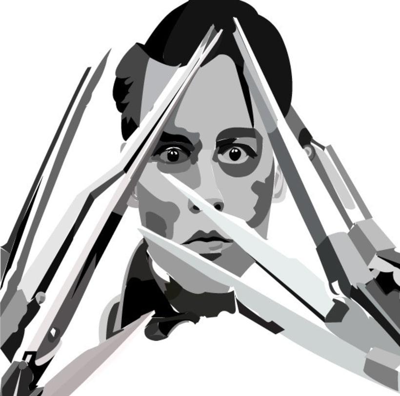 Edward scissor hands Fan art -1