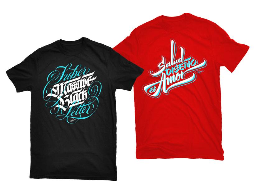T-shirts caligráficas por Meave 1